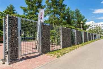 49 Fabulous Gabion Fence Design for Garden Landscaping Ideas