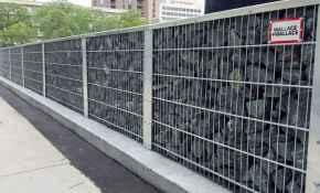 54 Fabulous Gabion Fence Design for Garden Landscaping Ideas