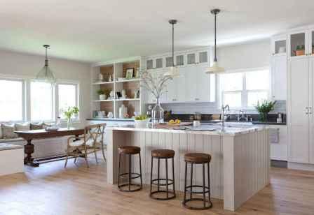 55 Incredible Farmhouse Gray Kitchen Cabinet Design Ideas