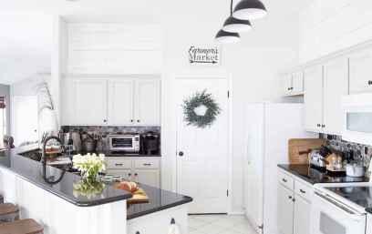 58 Incredible Farmhouse Gray Kitchen Cabinet Design Ideas