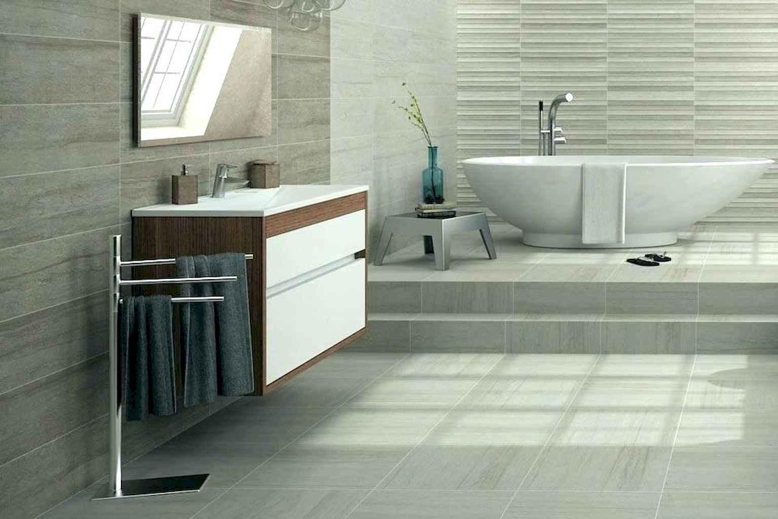 59 Awesome Farmhouse Bathroom Tile Floor Decor Ideas