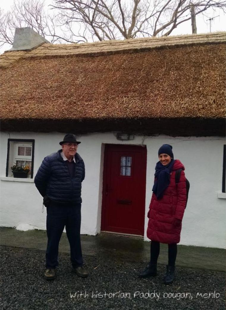 With historian Paddy Dougan Cottage in Menlo