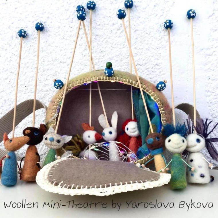 woolen mini theater by yaroslava bykova