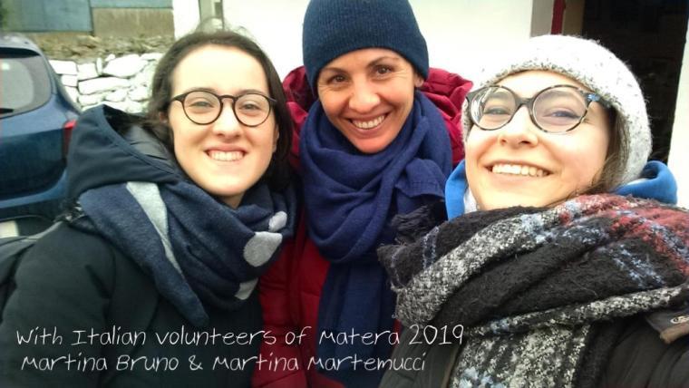 in Menlo with italian volunteers