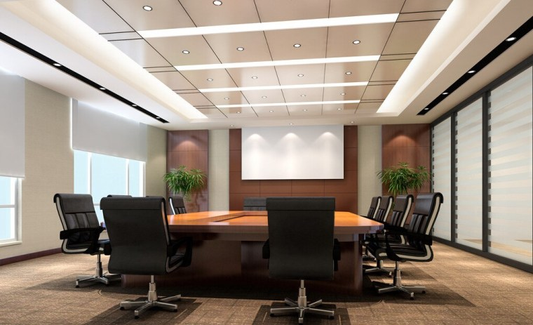 ruang meeting Konsep minimalis modern