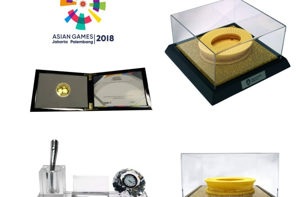 cinderamata asian games oleh pt. BAI