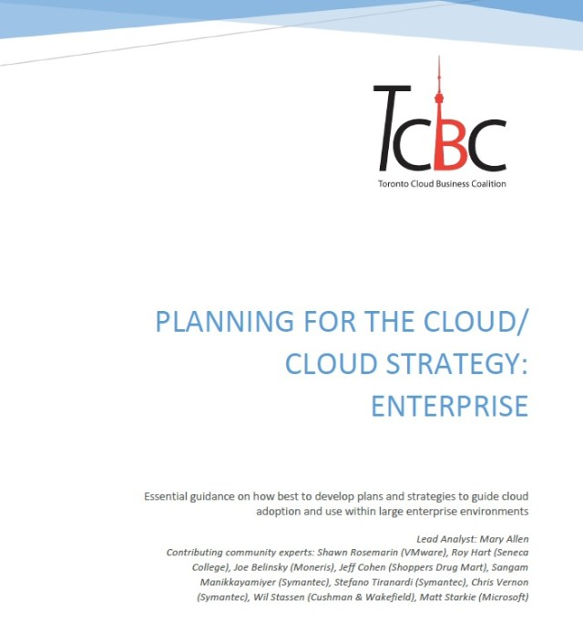 tcbc releases planning for the cloud cloud strategy enterprise