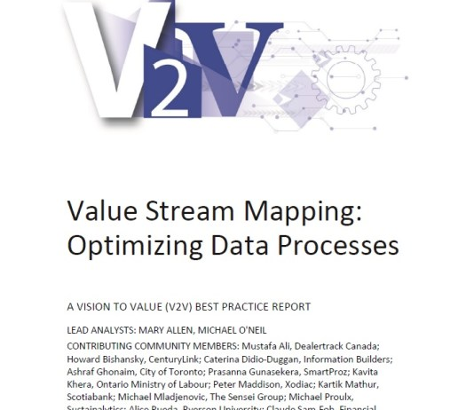 Report cover for Value Stream Mapping: Optimizing data processes