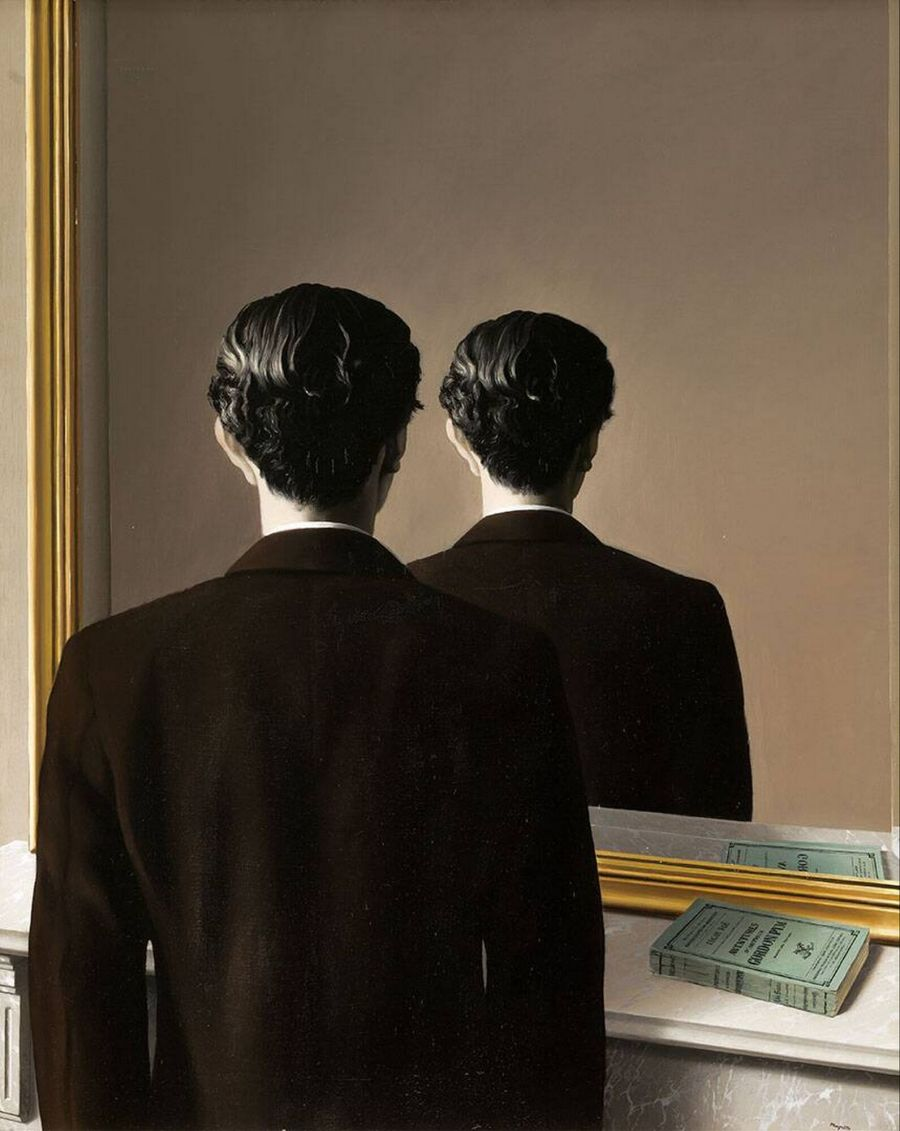 rene magritte, miroir, reproduction interdite, mirrors