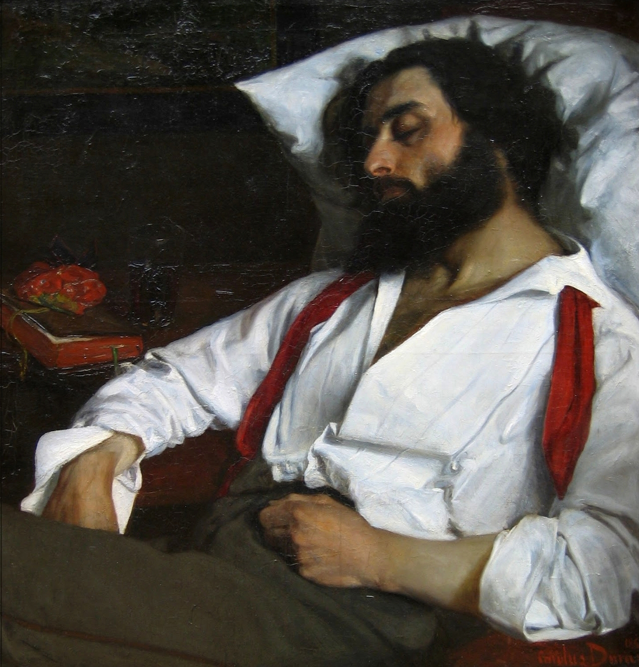 Charles Auguste Emile CAROLUS-DURAN, Homme endormi, art, insight, coaching, sommeil