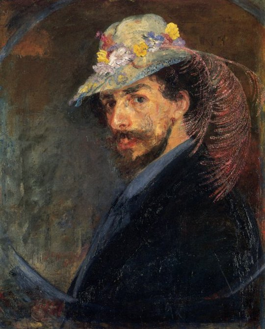 James ENSOR - Autoportrait au chapeau fleuri, art, insight, coaching, stress