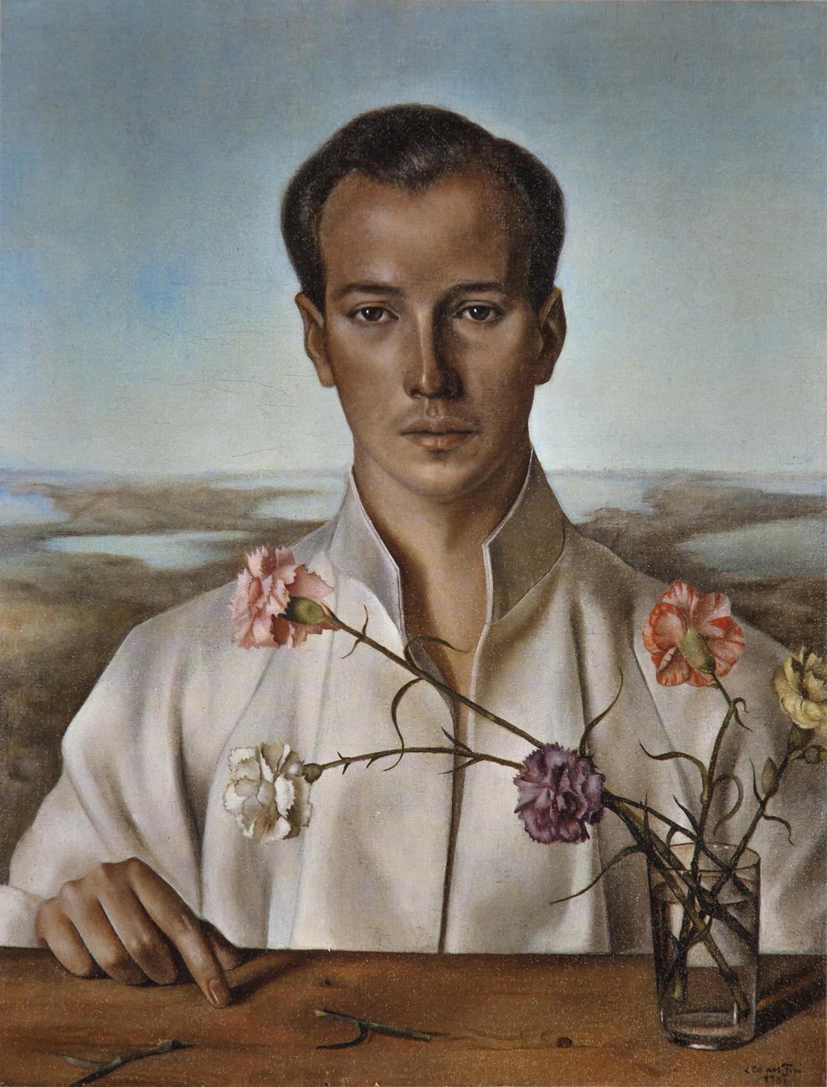 Leonor FINI - Portrait du Prince Hassan Aziz, art, insight, coaching, flowers