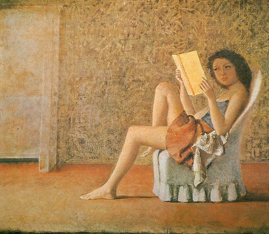 balthus, reading, books, read