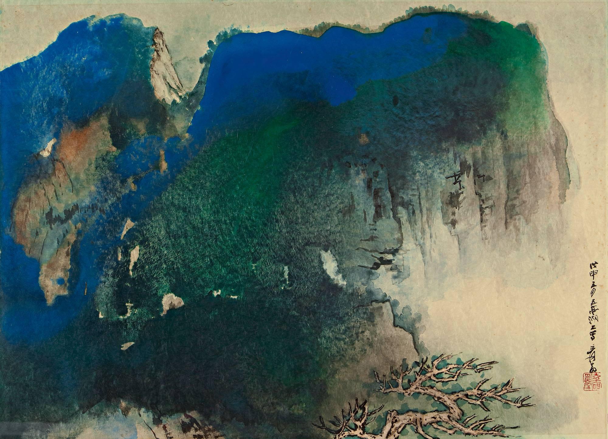 Zhang Daqian, insight, coaching, mountains