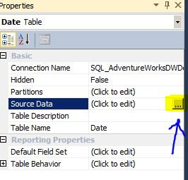 Source Data edit table sql server 2012 tabular mode analyis services