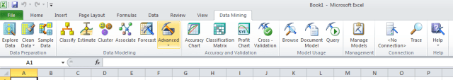 data mining in excel tool