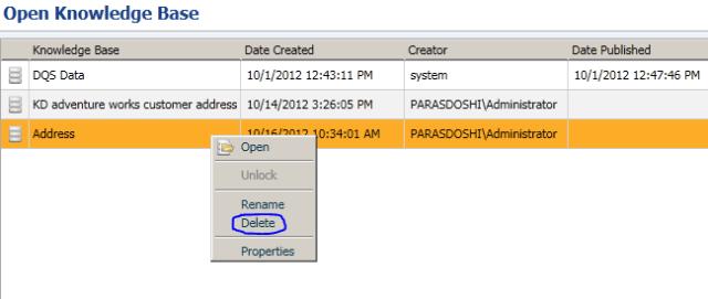 SQL Server 2012 Data Quality Services knowledge base management