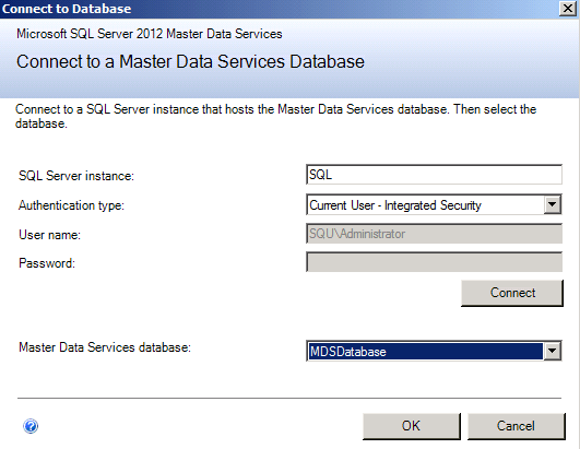 elect the database that will get associated to the application selected.