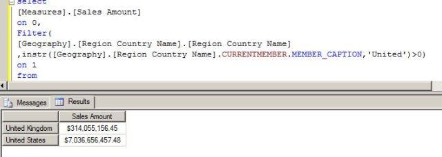 SSAS MDX analysis services like SQL
