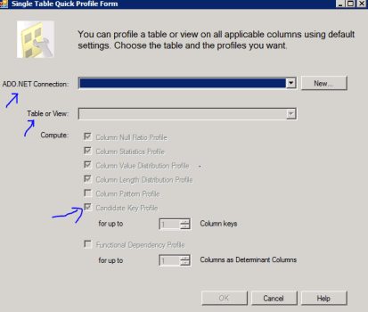 3 SSIS Data Profiling Task Data Cleaning Candidate Key