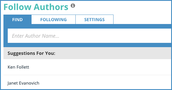 BookBub Author Follows
