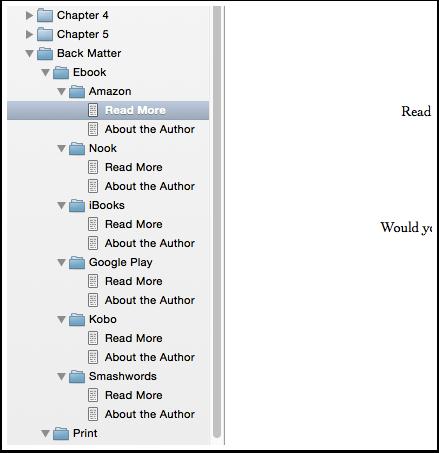 Scrivener Folders