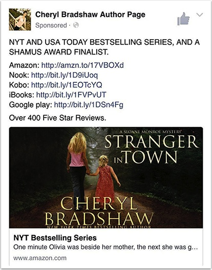 Author Page Facebook Ad