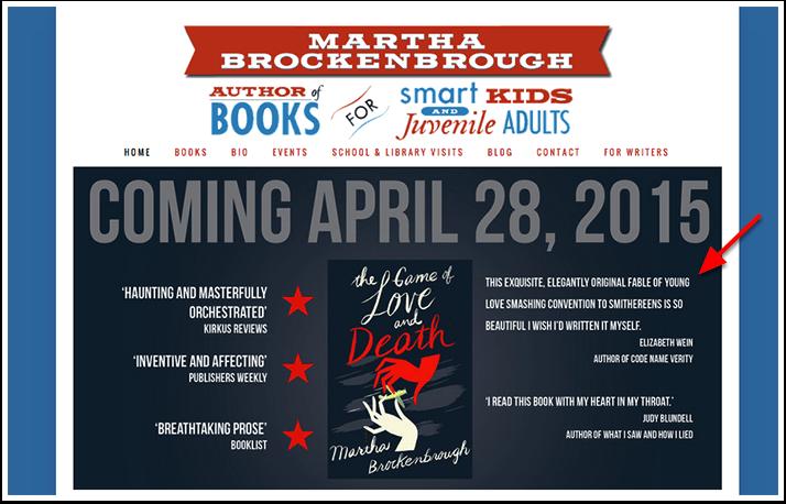 Book Blurbs on Website