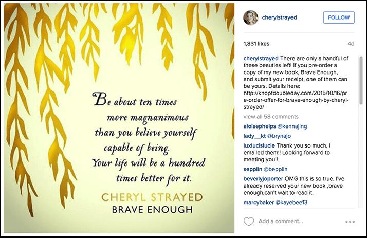 Cheryl Strayed Instagram