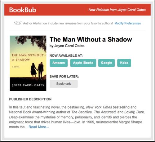 BookBub New Release Alert