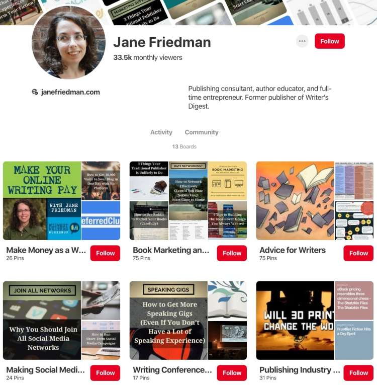 Jane Friedman book marketing resources