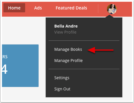 BookBub Partner Dashboard - Manage Books