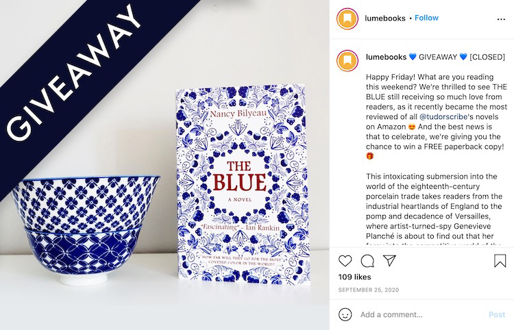 Publisher Giveaway Instagram