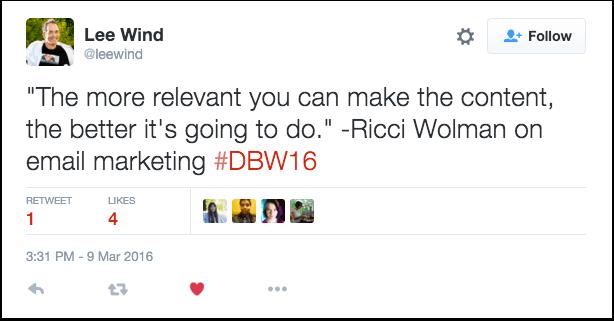 Relevant Content Tweet