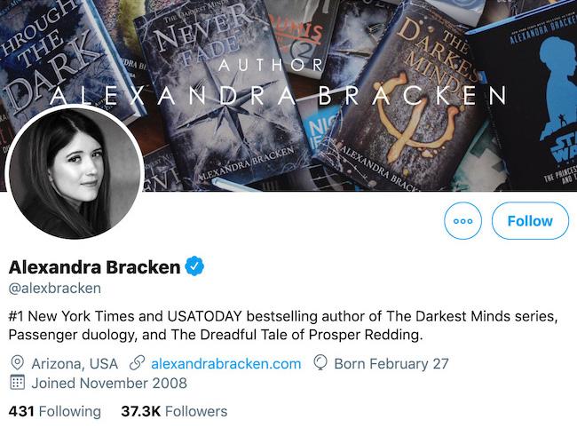 Alexandra Bracken Twitter Header
