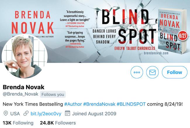 Brenda Novak Twitter Header