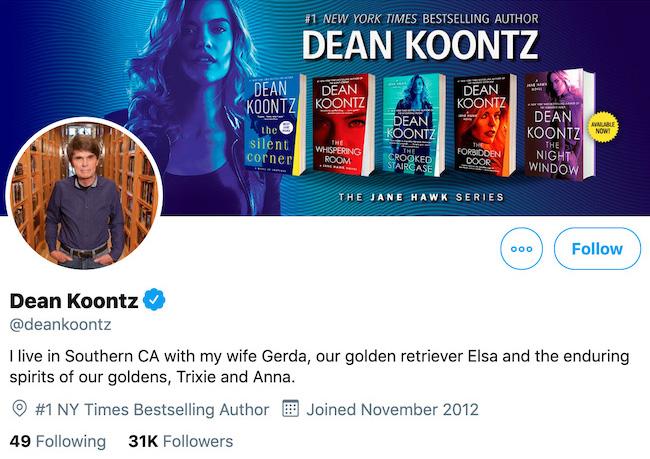 Dean Koontz Twitter Header