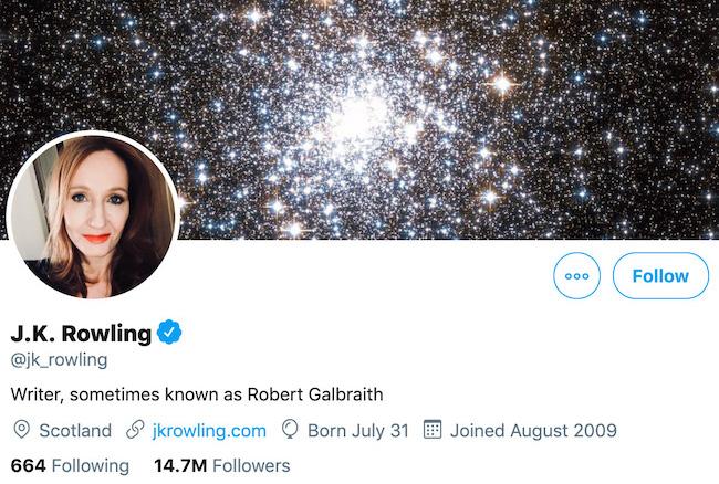 JK Rowling Twitter Header
