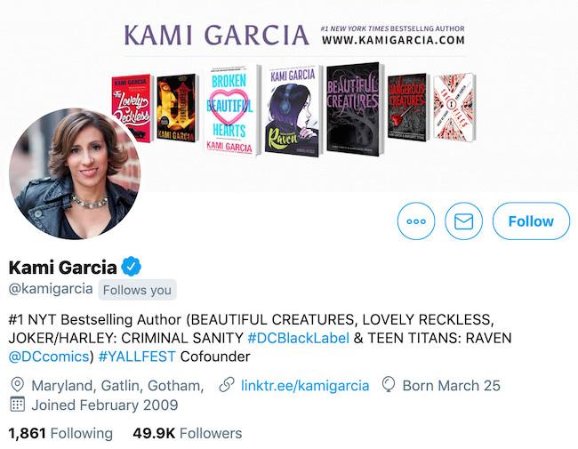 Kami Garcia Twitter Header