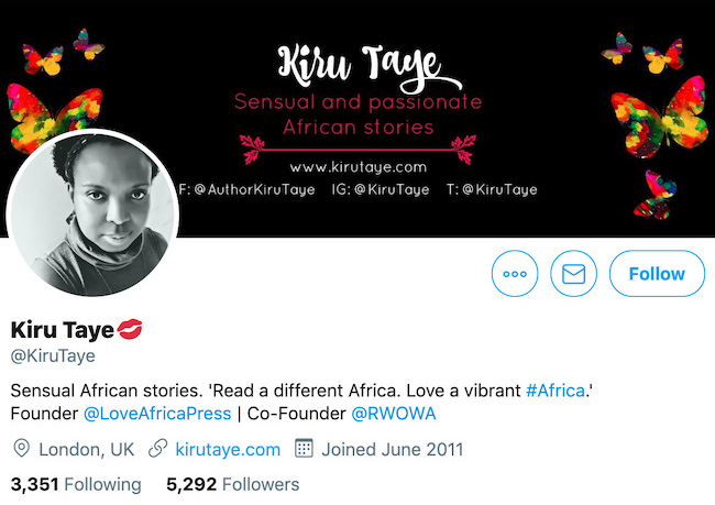 Kiru Taye Twitter Header