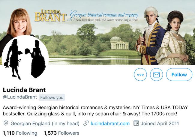 Lucinda Brant Twitter Header
