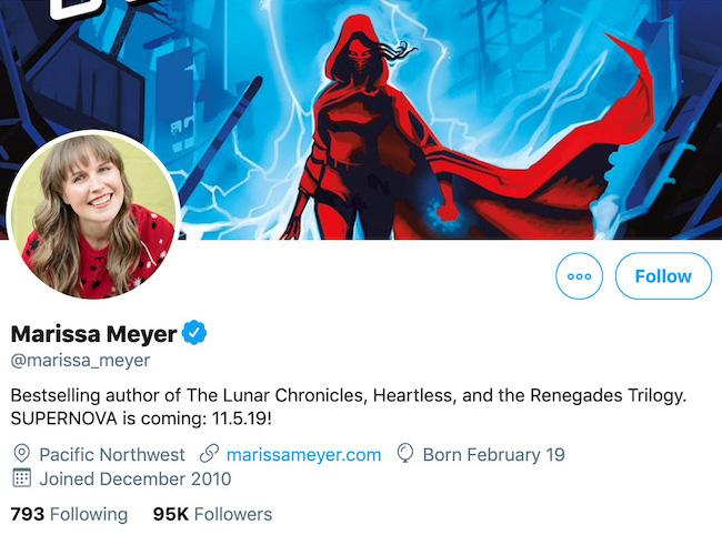 Marissa Meyer Twitter Header
