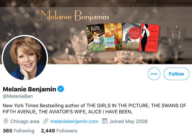Melanie Banjamin Twitter Header