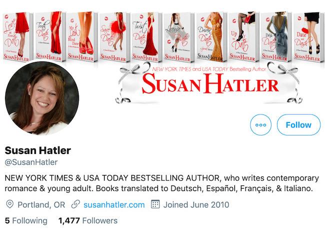 Susan Hatler Twitter Header