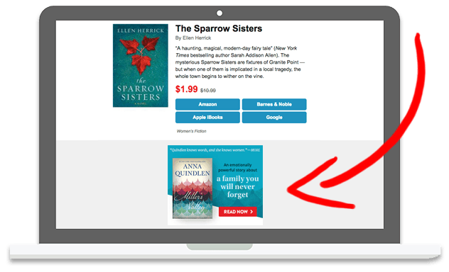 BookBub Ads in BookBub's Daily Email