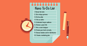 NaNoWriMo To-Do List
