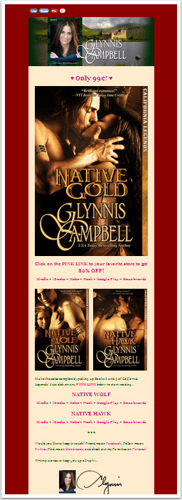 Glynnis Campbell's Newsletter