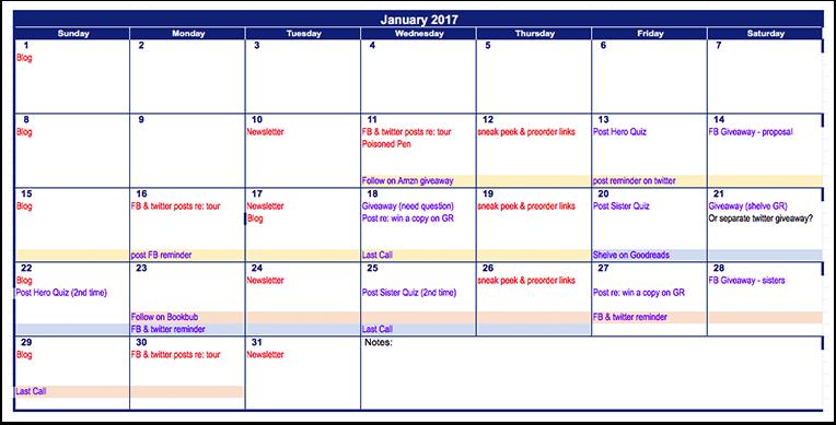 Book PR Calendar Example