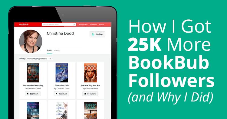 How I Got 25K More BookBub Followers