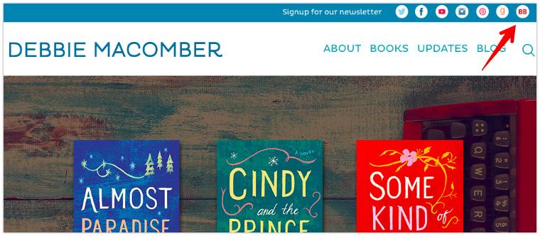 Debbie Macomber's Site Header